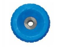 6X1067.018  Ролик опорный L=80 мм, D=140/23 мм PVC синий