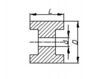 6X1067.023 Ролик опорный L=75 мм, D=128/22 мм PVC желтый
