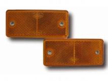 6X1354.058  Светоотражатель 90x40 желтый DOB-34Z с отверстием