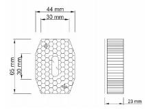 6X1354.006  Фонарь габаритный белый FT-001B