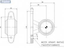 6X1354.162 Фонарь контурный FT-009A LED прям. кор. ножка