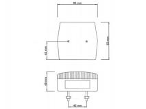 6X1354.002 Фонарь задний MD-2 без подсветки номера