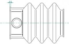 6J1167.001 Пыльник резиновый гофр для МТН KF 7.5 - 27