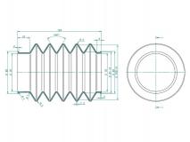 6J1324.001 Пыльник резиновый гофр для МТН KFG 35