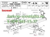 3978-F ТСУ для Ford Ranger Limited, Wildtraсk (со ступенькой)2011-