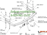 X/011 ТСУ для Mazda 6 тип кузова хетчбек/седан 01/03-01/08