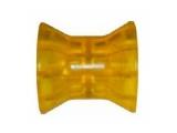 6X1064.012 Ролик носовой L=74 мм, D=73/50/14.5 мм PVC желтый
