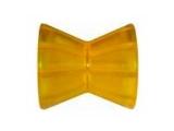 6X1065.002 Ролик носовой L=95 мм, D=87/54/13 мм PVC желтый