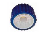 6X1067.021 Ролик опорный L=75 мм, D=128/22 мм PVC синий