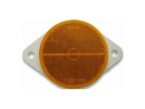 6X1354.028 Светоотражатель d=80 желтый DOB-39 Z (с ушами)