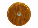 6X1354.032  Светоотражатель d=60 желтый DOB-33 Z отверстие