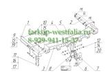 2255-AK41 Фаркоп на MB M-Klasse W164 2005-2012