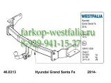 346086600001 Фаркоп на Hyundai Santa Fe 2001-2006