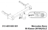 313405600001 Фаркоп на GLE-Klasse 04/2015-09/18 W166