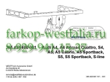 305445600001 Фаркоп на AUDI A5 2007-